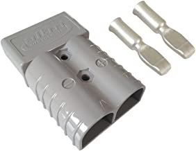 350A Battery Connector AWG 2/0 Quick Connect Battery Modular Power Connectors Quick Disconnect (Grey)