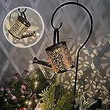 TAAT Lichterketten Solarleuchte Wasserfall Form Twinkle Lichterketten Garten Gießkanne Lichter Stern Typ Dusche Garten Kunst Licht für Outdoor, Garten, Party, Hochzeit, Weihnachtsbaum (mit Ständer)