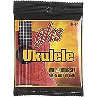 ジーエイチエス ブラックナイロン ソプラノ コンサート兼用 ウクレレ弦 セット Standard Ukulele Black Nylon GHS H-10 (1セット)