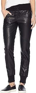 Best black leather jogger pants Reviews