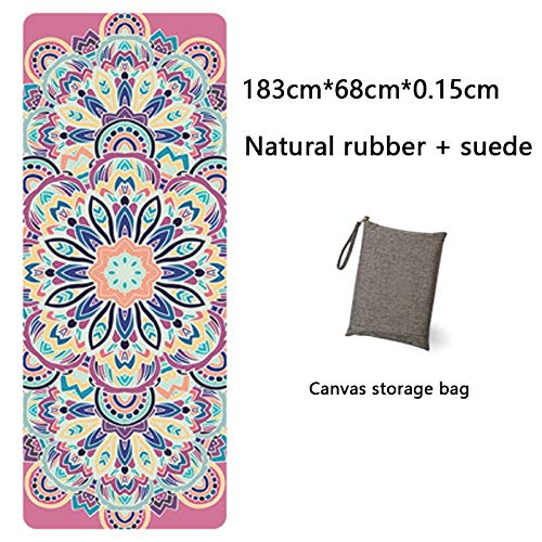 Yoga Mat Yoga Mat Printing Ultra-Thin Folding Non-Slip Cloth Towel Sweat-Absorbent Yoga Portable Travel Pad Pilates 183 Cm*68 Cm*0.15 Cm White