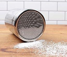 iCoffee Sugar Shaker Big Size 10oz 18/10 Stainless Steel Powder Shakers, Mesh Shaker Cinnamon Powder,Salt Shaker,Coco Shak...
