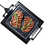 GRANITESTONE 2584 Indoor Electric Smoke-Less Grill with Cool-touch handles and adjustable Temperature Dial, Nonstick, PFOA-Free, Black 16 x 14' As Seen On TV