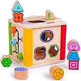 Roliamte Caja de Regalo de Juguete de Madera para Juegos educativos Desarrollo Preescolar Colorido - Centros de Actividades cumpleaños para 1 2 3 4 años Niño Niña Bebé y niño pequeño