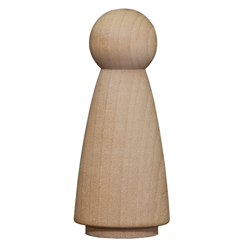 Wood Doll Bodies - Woman 3-1/2 inch - Bag of 50