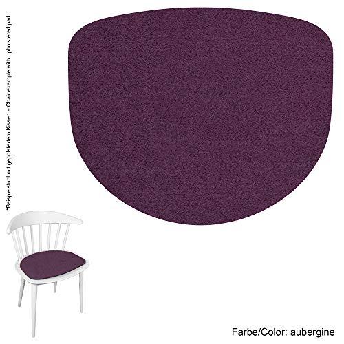 Feltd. Eco Filz Auflage 4mm Simple - geeignet für Hay - J104 und J110 // - 29 Farben inkl. Antirutschunterlage (aubergine)