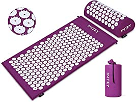 INTEY Wellness Therapy Acupressure Mat Set, Help Release Muscle Pain and Tension, Acupuncture Mat for Back/Neck Massage +...