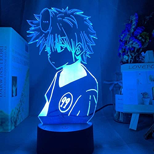 Lámpara de ilusión 3D LED luz Nocturna Anime Hunter x Hunter Killua Zoldyck Color Cambiando USB Batería de la batería Lámpara Mejor Cumpleaños