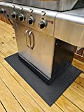 G-Floor Gas Grill Mat - Diamond Tread 47'x32' in Slate Grey