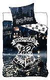 BrandMac ApS Harry Potter Kinder-Bettwäsche Bettbezug 135x200 80x80 Baumwolle Hogwarts Slytherin