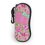 Funda para gafas de sol con diseño de Hello Kitty con cremallera y clip para cinturón, diseño de Hello Kitty