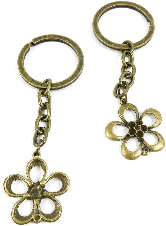 80 PCS Keyring Car Door Key Ring Tag Chain Keychain Wholesale Suppliers Charms Handmade U6NL9 Flower