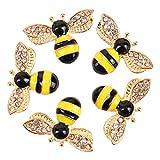 Monrocco 20 Pieces Enamel Bee Charm Pendants with Rhinestone, Honeybee Charms Pendants Crafting for DIY Necklace Bracelet Earrings