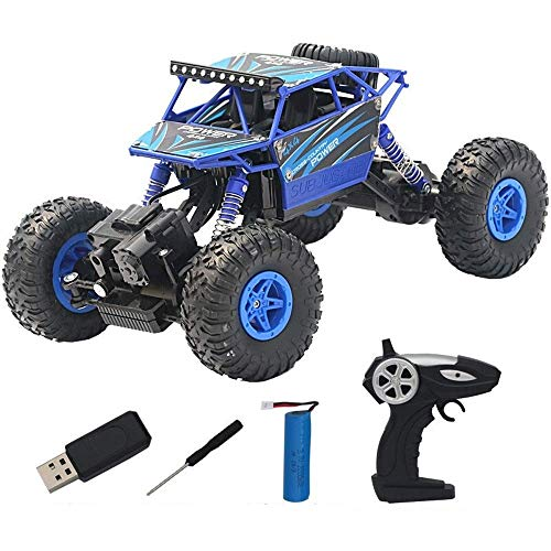 XiYou Coches de Control Remoto Off Road Big Foot Electric Power Buggy Monster Truck 4WD Speed Red Hobby Vehículo Todoterreno Extra 32MPH 4x4 Fast Race Escala 1:14 RTR Racing Radio Cross Country