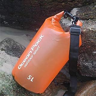 FFX Outdoor Waterproof Single Shoulder Dry Bag Dry Sack PVC Barrel Bag, Capacity: 5L (Orange) Outdoor Bags (Color : Orange)
