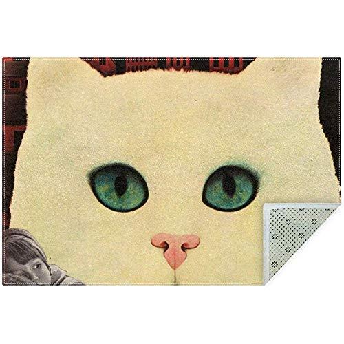 Nice-people Weiche Angst Vor Riesenkatzen rutschfeste Teppiche Große Teppichmatte Teppich Für Wohnzimmer Schlafzimmer Spielzimmer