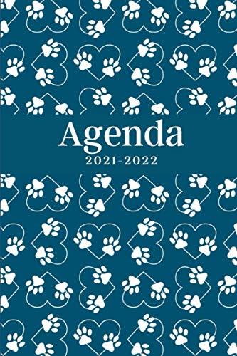 Agenda 2021-2022: Patas de Perro, Calendario 21- 22, Agenda Semanal y Mensual, Regalo Perfecto y Original de Navidad, Papá Noel o Reyes Magos