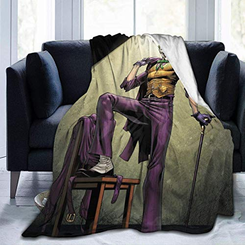 Yaxinduobao Manta suave Joker película trama franela ultra suave acogedora manta cálida manta ligera Microfleece