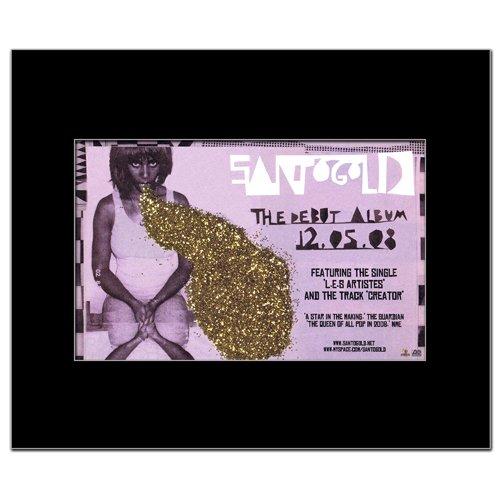 SANTOGOLD - Debut Album Matted Mini Poster - 22.5x14cm