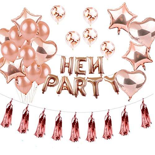Globos Dorados, Globos CumpleañOs Hen Party, Suministros Y DecoracióN Globo Grande De Aluminio - DecoracióN Globos De LáTex Dorado - Apto Para Todos Los Adultos (Oro rosa)