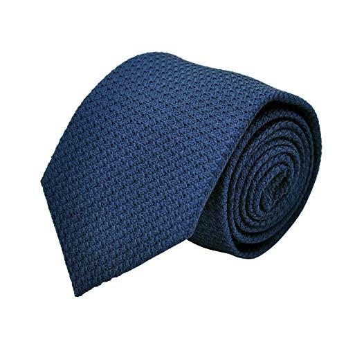 Segni & Disegni - Cravate en Grenadine de Soie 'grosso'. Bleu Français