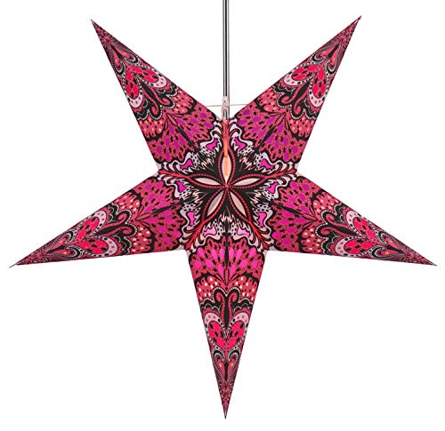 Guru-Shop Faltbarer Advents Leucht Papierstern, Weihnachtsstern 60 cm - Nestor Light Pink/Lila, Star Fensterdeko, 7 Spitzen