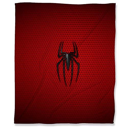 Manta de forro polar de felpa supersuave, 130 x 180 cm, manta de franela de Spiderman para niños, bebés, adultos o mascotas, logotipo de superhéroe