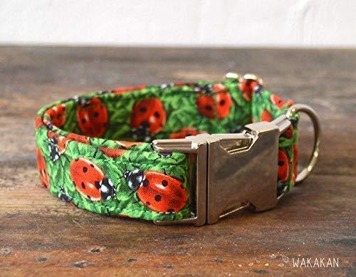 Collar Para Perro: Ladybug, Hecho a Mano en España por Wakakán: Amazon.es: Handmade