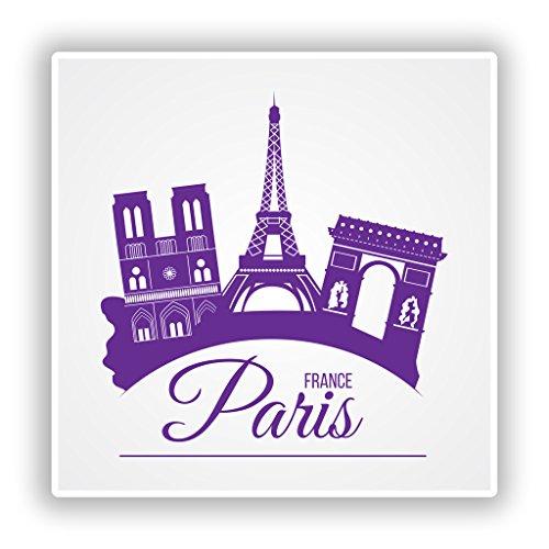 2 x Paris France Autocollants vinilici Bagages de Voyage # 10175 10cm/101mm Wide