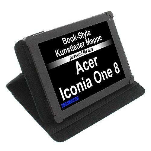 foto-kontor Tasche für Acer Iconia One 8 Iconia Tab 8 Iconia Tab 8 W Predator 8 Book Style Schutz Hülle Buch schwarz