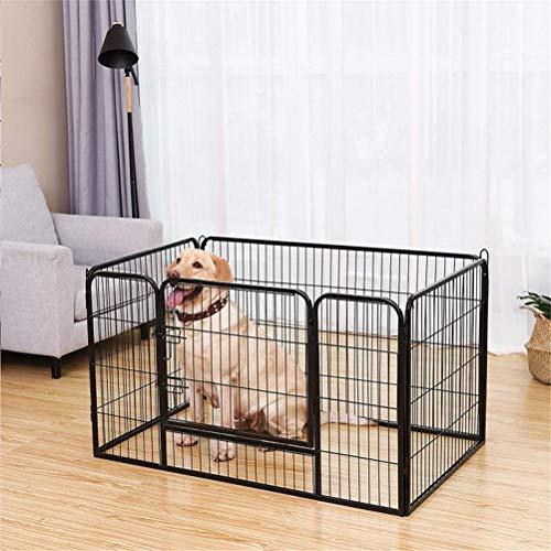 Flashing Valla para Mascotas, Aviario para Perros, Gruesa, De Acero Inoxidable, Plegable, Caja De Corralito para Mascotas, Gatos, Perrera, Casa, Suministros para Mascotas
