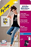 AVERY Zweckform MD1004 8 Textilfolien (für farbige Textilien, DIN A4, bedruckbare T-Shirt Folie zum Aufbügeln, Transferfolie für Inkjet-/Tintenstrahldrucker, Bügelfolie)