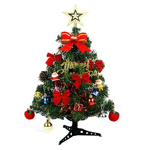 Kylewo 30 cm mini-kerstboom: kleine kunstkerstboom met ledverlichting, voor thuis, keuken, feest, festival, winter…