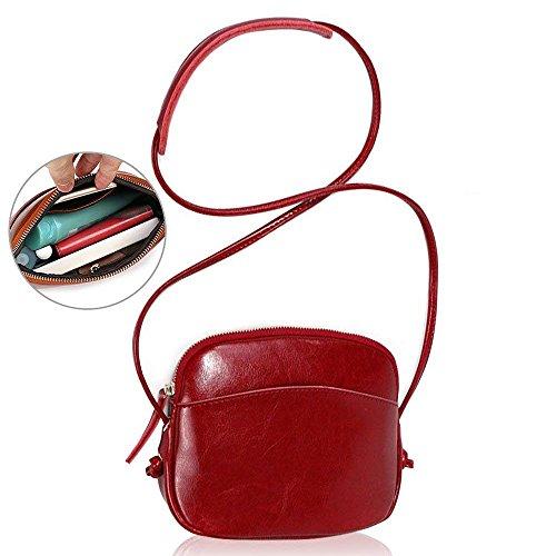 Luxus weich echtes kleine Ledertasche Handy-Tasche-Beutel mit Gurt Kleine Umhängetasche mit Vielen Fächern, Kartenfächer, geldfach, handyfach für Damen Mädchen Crossbody Bag