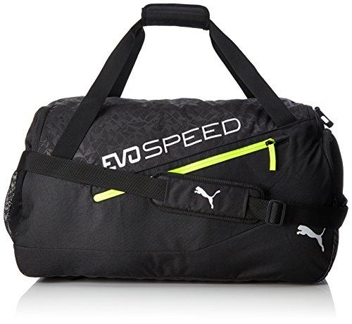 PUMA Evospeed M Bag Sporttasche, Black-Green Gecko-Safety Yellow, 60 x 30 x 5 cm