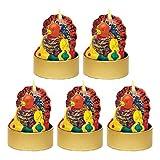 Turkeys Mini Molded Votive Candles, 1.8
