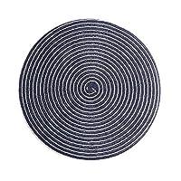 XXT コースターホームコースターキッチン断熱マットアンチやけどポットマットホームクリエイティブアンチスキッドコースター(4個) (Color : Dark blue, Size : 36CM*36CM)