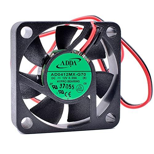 Chasis C.O.O.LI.N.G R.EV.OL.U.T.IO.N AD0412MX-G70 4 cm 40 mm 4010 12V 0.08A 2PINSUPER Placa Madre Placa Base de la computadora Norte y Sur Fan de enfriamiento Accesorios (Color : Black)