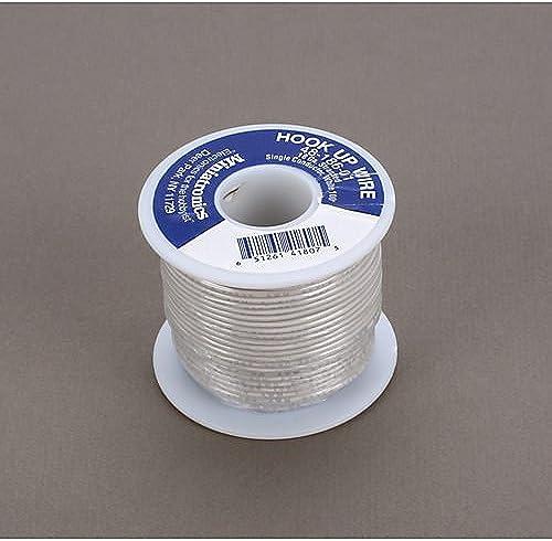 100' Stranded Wire 18 Gauge, blanc by Miniatronics Corp