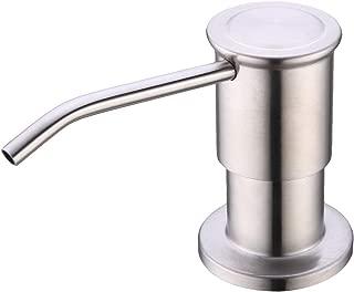 Soap Dispenser for Kitchen Sink, EKRTE Brushed Nickel Liquid Dish Metal Sink Dispensers Pump, 304 Stainless Steel Sink Soap Dispenser with Large 17 oz Bottle