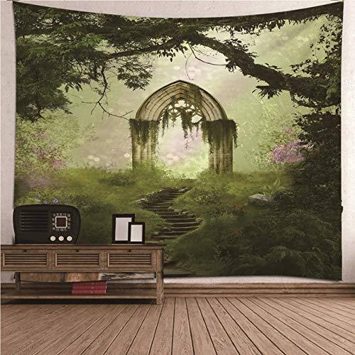 Malinmay Wandbehang Outdoor, Psychedelic Forest Tapestry Wandbehang Polyester Wanddekorationen Für Schlafzimmer, Tischdecke, Wohnzimmer 210X140CM