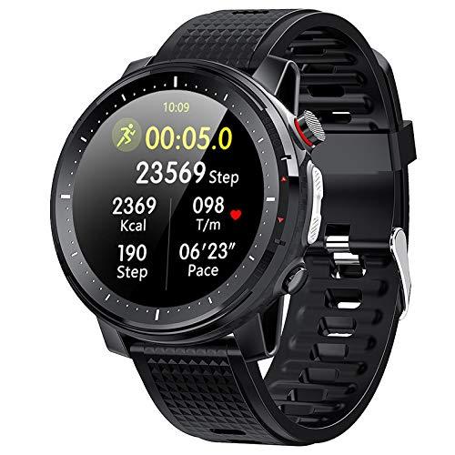 L15 Smart Watch,GPS Waterproof Screen Fitness Watch,with Heart Rate Monitor,Pedometer,Sleep Monitor,Silent Alarm Clock,Super Battery Life,Slim Smart Bracelet(Black)