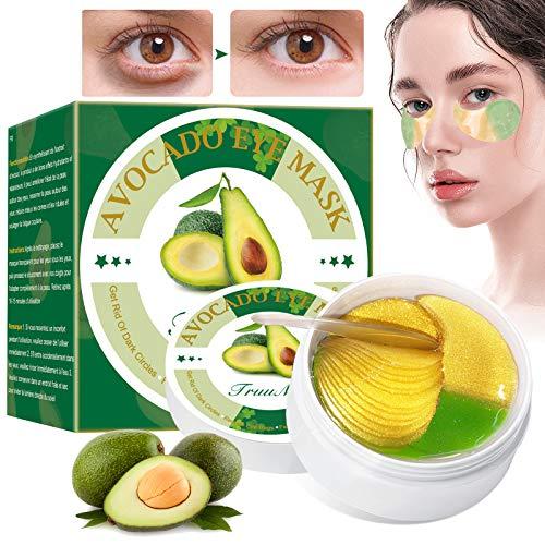 Mascara Para Los Ojos, Eye Mask, Ojos Parches,Contorno de Ojos Antiarrugas, Reduce las bolsas bajo los ojo, ojeras, patas de gallo e hinchazón- 60 Piezas