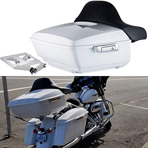 Find Discount Crushed Ice Pearl King Tour Pack 2017 Tour Pak Mount Fit for Harley Touring Road Glide...