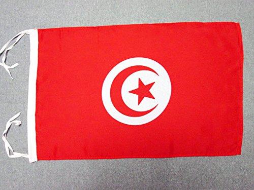 AZ FLAG Flagge TUNESIEN 45x30cm mit Kordel - TUNESISCHE Fahne 30 x 45 cm - flaggen Top Qualität