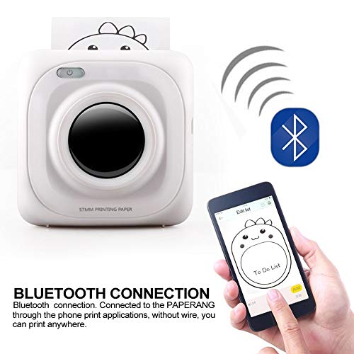 Lowest Price! YOUKITTY 1pc Portable Mini Bluetooth Wireless Mobile Receipt Paper Photo Printer