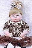 """ASDAD Muñecas De Silicona Bebes Reborn para La Venta 23""""Cuerpo De La Muchacha Pelo Rubio Bebés Renacidos Muñeca De Juguete para Niños Boneca Reborn Silicona Completa"""