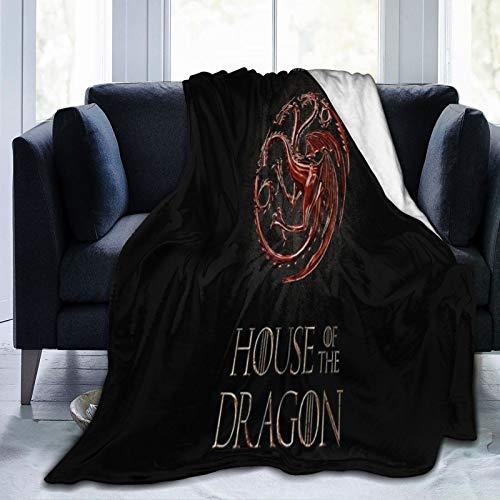 Juego de Tronos Manta de fuego y sangre, manta para sofá, mezcla de lana, para oficina, chal de aire acondicionado