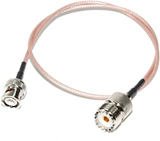 AEcreative 4pcs Quick Assemble solderless coaxial RG-58 BNC Male External Antenna Plug Connector for Amateur HAM Radio Uniden RadioShack Scanner Receiver