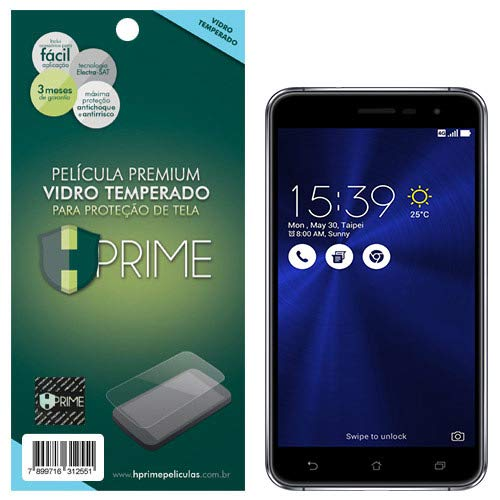 """Pelicula de Vidro Temperado 9h para Asus ZenFone 3 5.2"""" ZE520KL, Hprime, Película Protetora de Tela para Celular, Transparente"""